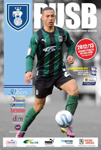CCFC Official Programmes issue 21 v BIRMINGHAM (11-12)