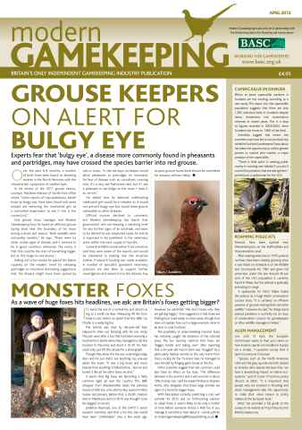 Modern Gamekeeping issue APRIL 2012