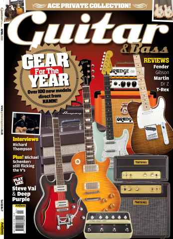 Guitar & Bass Magazine issue April 2012 Gear for the Year
