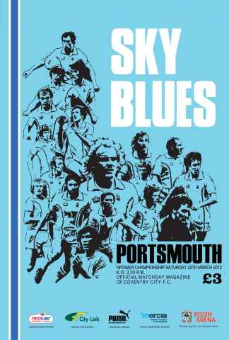 CCFC Official Programmes issue 22 v PORTSMOUTH (11-12)