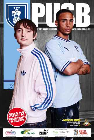 CCFC Official Programmes issue 25 v DONCASTER (11-12)