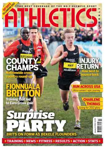 Athletics Weekly issue AW Jan 12 2012
