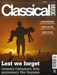 Classical Music Magazine Cover