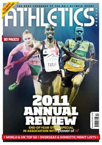 Athletics Weekly issue AW Dec 29 2011