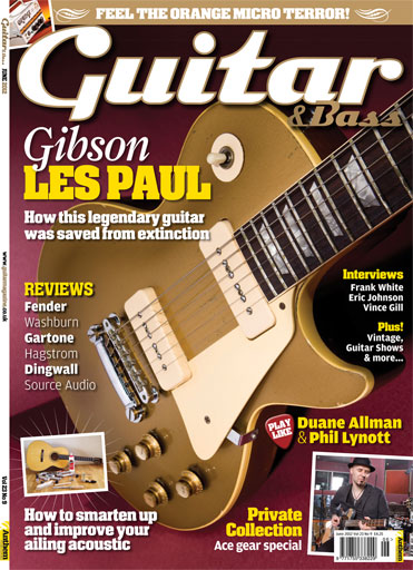 Guitar & Bass Magazine issue June 2012 Gibson Les Paul