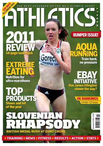 Athletics Weekly issue AW Dec 15 2011