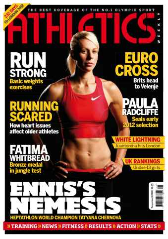 Athletics Weekly issue AW Dec 8 2011