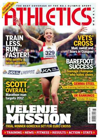 Athletics Weekly issue AW Dec 1 2011