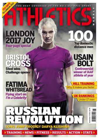 Athletics Weekly issue AW Nov 17 2011