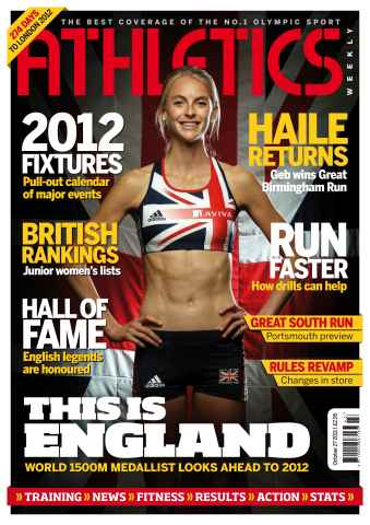 Athletics Weekly issue AW Oct 27 2011
