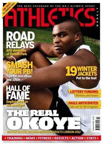 Athletics Weekly issue AW Oct 20 2011