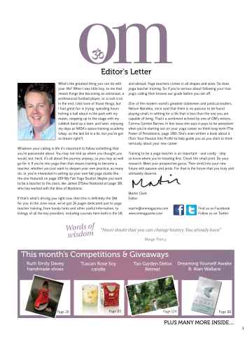 OM Yoga UK Magazine Preview 3