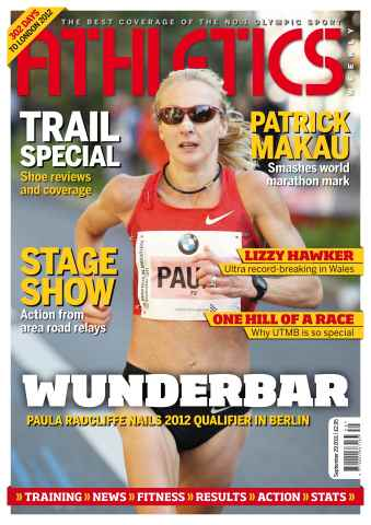 Athletics Weekly issue AW Sept 29 2011