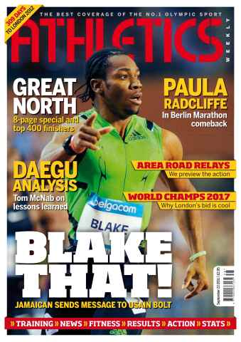 Athletics Weekly issue AW Sept 22 2011