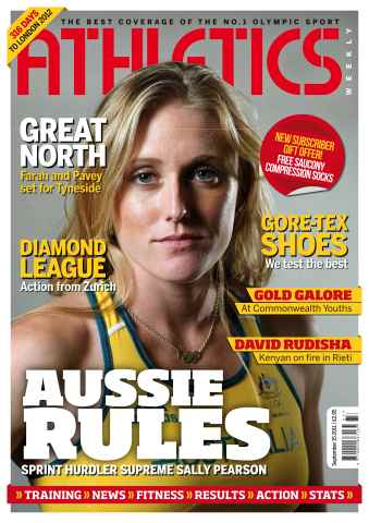 Athletics Weekly issue AW Sept 15 2011