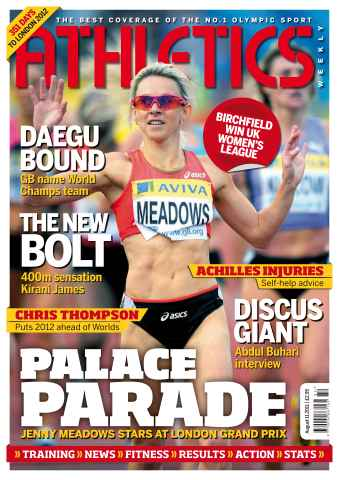 Athletics Weekly issue AW August 11 2011