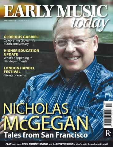 Early Music Today issue Early Music Today June-Aug 2012