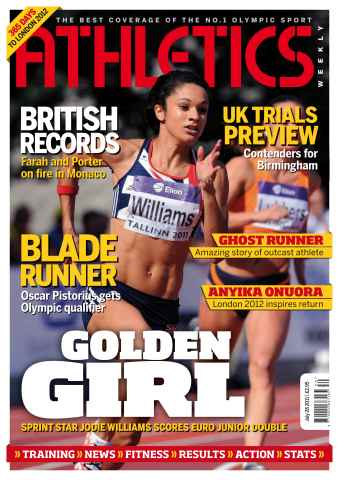 Athletics Weekly issue AW July 28 2011