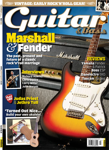 Guitar & Bass Magazine issue July 2012 Marshall & Fender