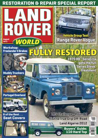 Landrover World issue Land Rover World August 2012