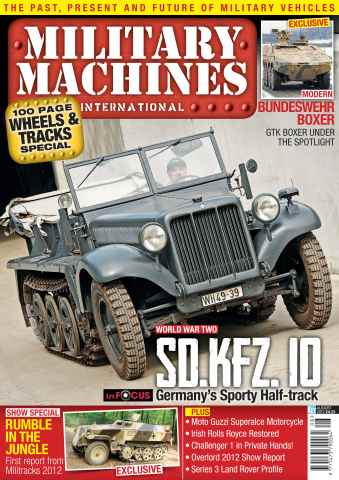 Military Machines International issue August 2012