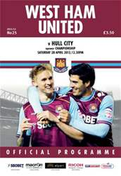 West Ham Utd Official Programmes issue vs Hull City 2012-13