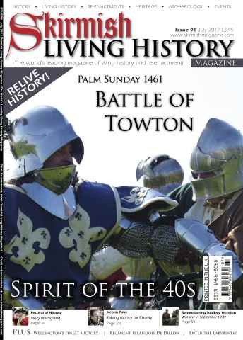 Skirmish Living History issue Issue 96 July 2012