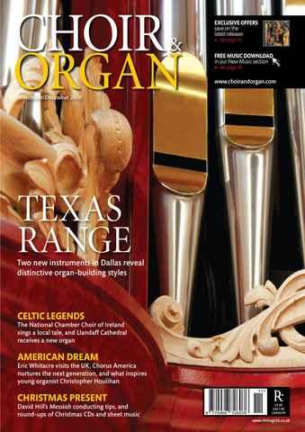 Choir & Organ issue Nov-Dec 2010