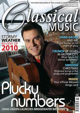 Classical Music issue December 18th 2010