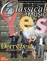 Classical Music issue September 25th 2011