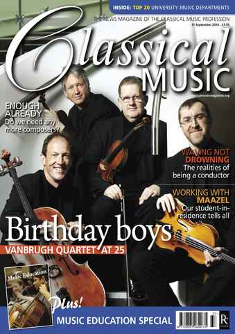 Classical Music issue September 11th 2010