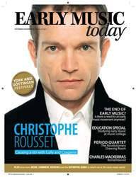Early Music Today issue Sep-Nov 2010