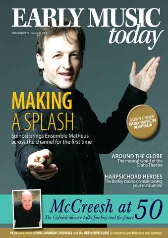 Early Music Today issue Jun-Aug 2010