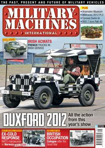 Military Machines International issue September 2012