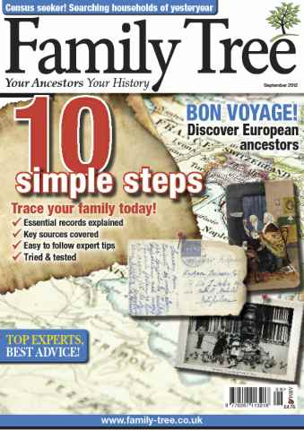 Family Tree issue Family Tree September 2012