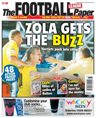 The Football League Paper issue 19th August 2012