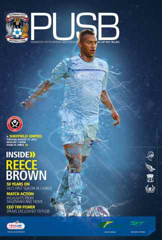 CCFC Official Programmes issue 01 v SHEFFIELD UTD (12-13)