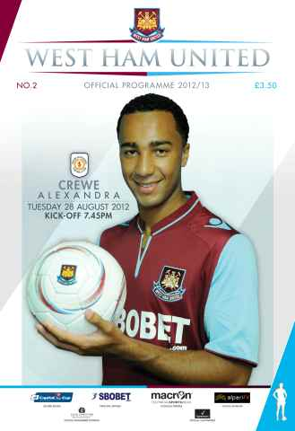 West Ham Utd Official Programmes issue West Ham United v Crewe