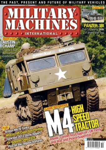 Military Machines International issue October 2012
