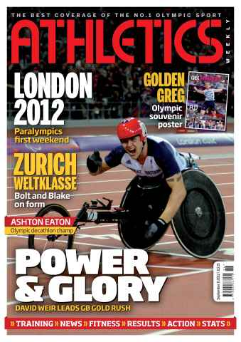 Athletics Weekly issue AW Sept 6 2012