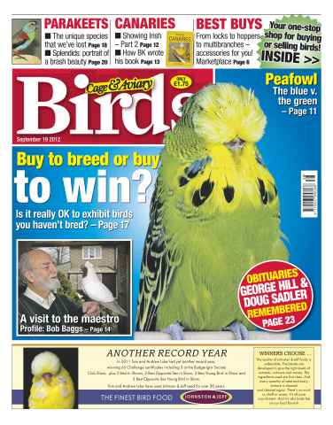 Cage & Aviary Birds issue Cage & Aviary September 19 2012