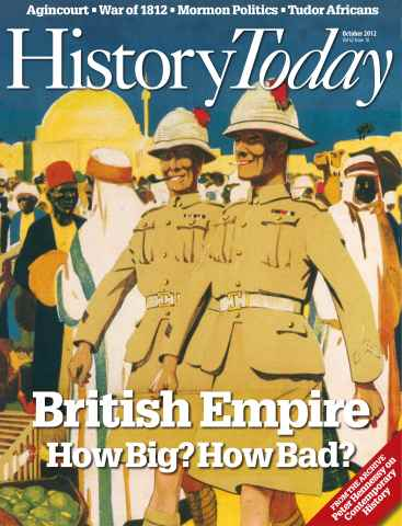 History Today issue October 2012