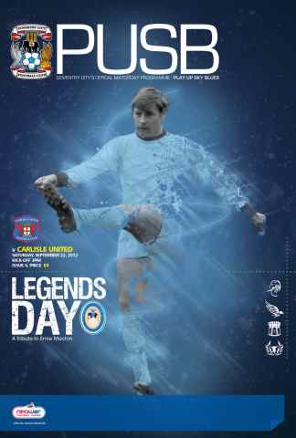 CCFC Official Programmes issue 06 v CARLISLE  UNITED (12-13)