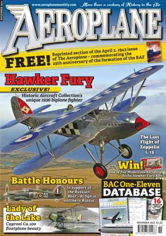 Aeroplane issue No.475 Hawker Fury