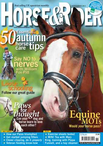 Horse&Rider Magazine - UK equestrian magazine for Horse and Rider issue November 2012