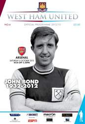 West Ham Utd Official Programmes issue WEST HAM UNITED V ARSENAL