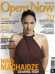 Opera Now issue Opera Now November 2012