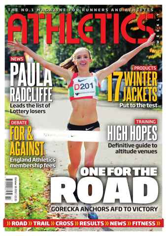 Athletics Weekly issue AW October 18 2012