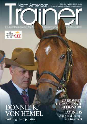 North American Trainer Magazine - horse racing issue Winter 2012 - Issue 26