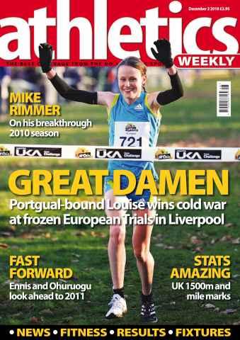 Athletics Weekly issue AW Dec 2 2010